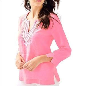 Lilly Pulitzer Amelia Island Tunic in Pascha Pink